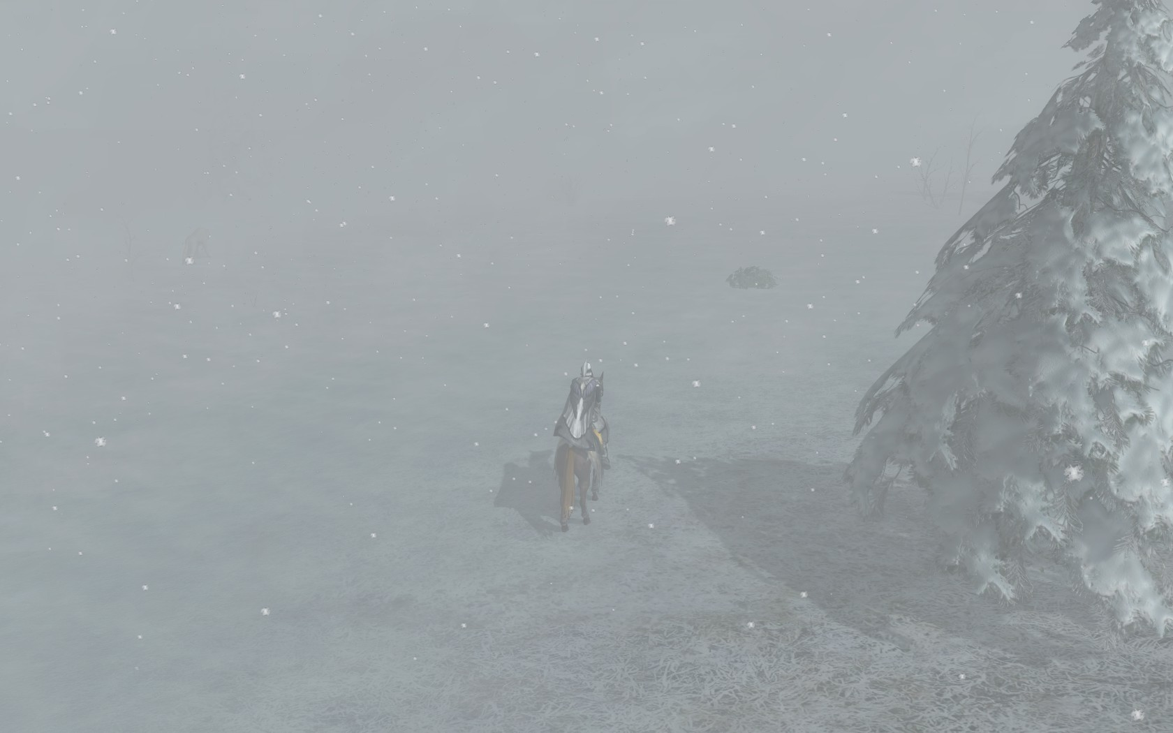 Lord of the Rings Online - Stuck in a blizzard in the Misty Mountains