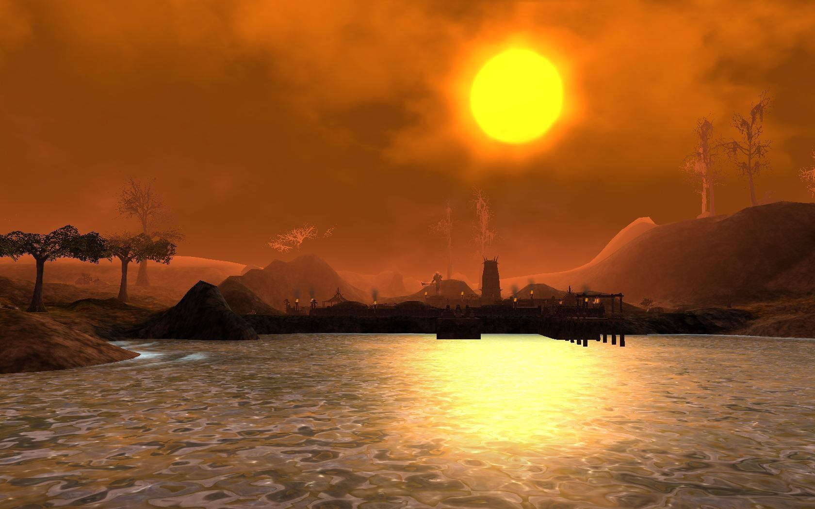 Darkfall - Sunset at Dragenoth