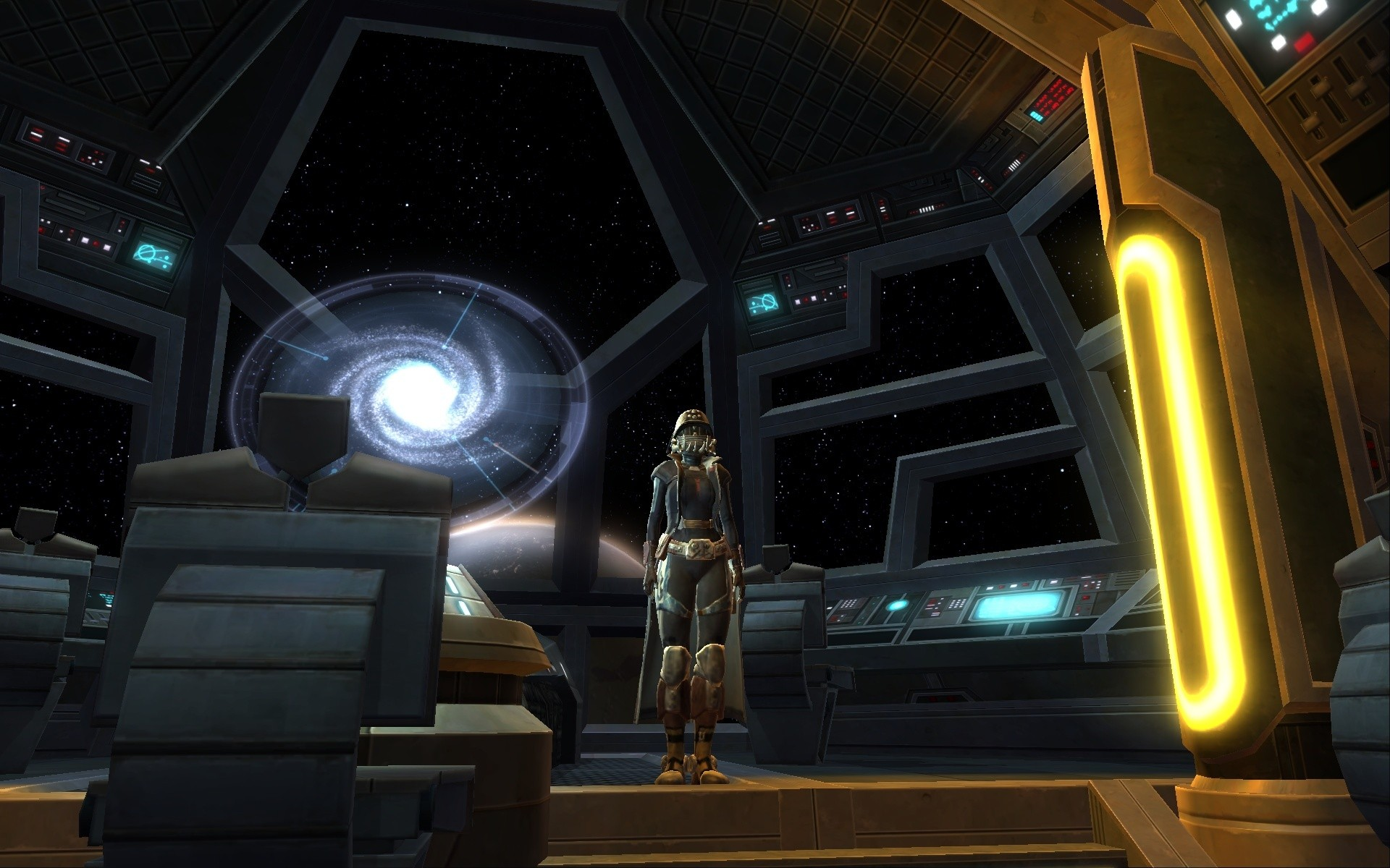 Star Wars: The Old Republic - Hunter in her Ship