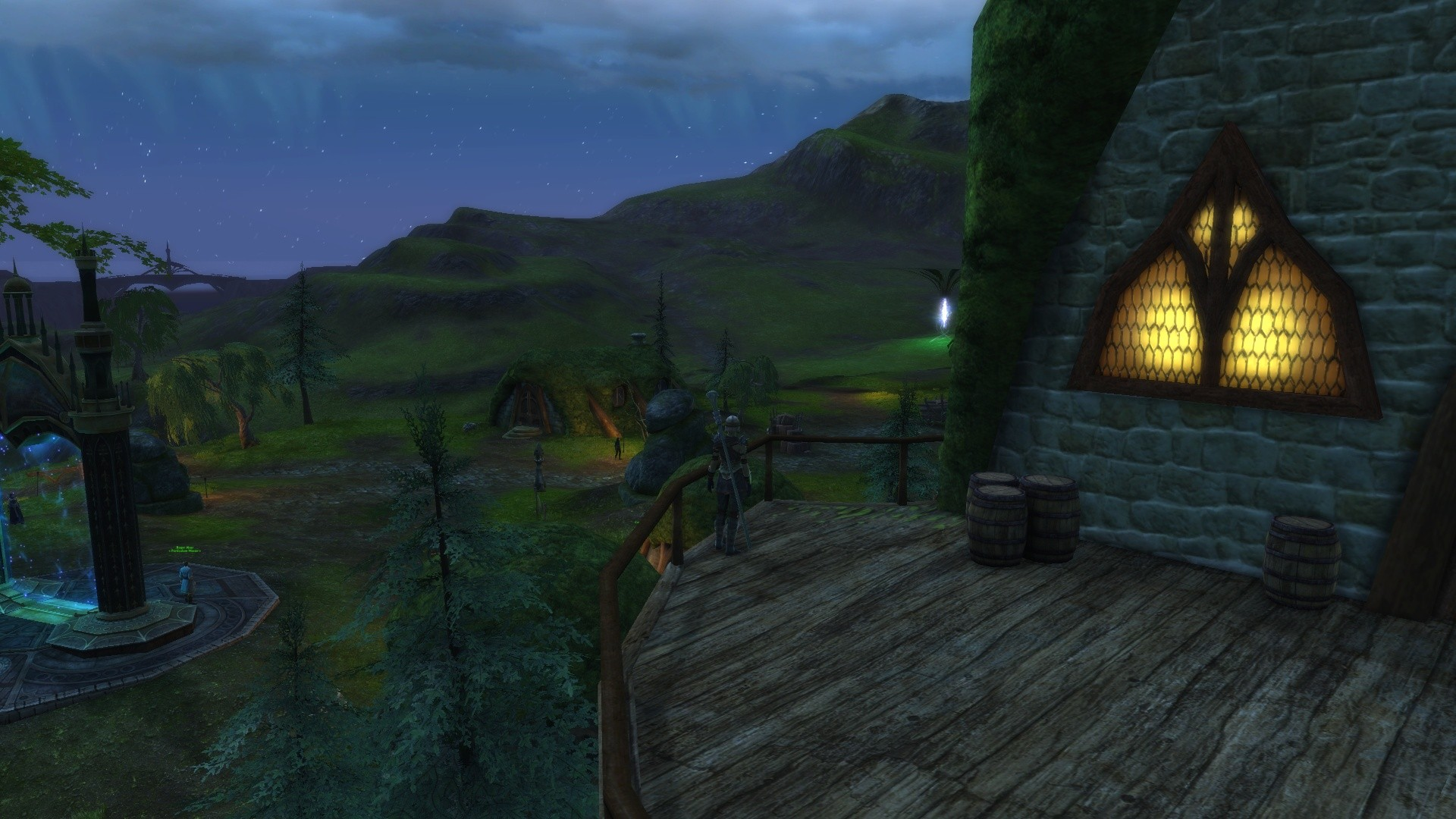 Rift - Nice quiet evening. Stars on the horizon and a tear happening on down the road.