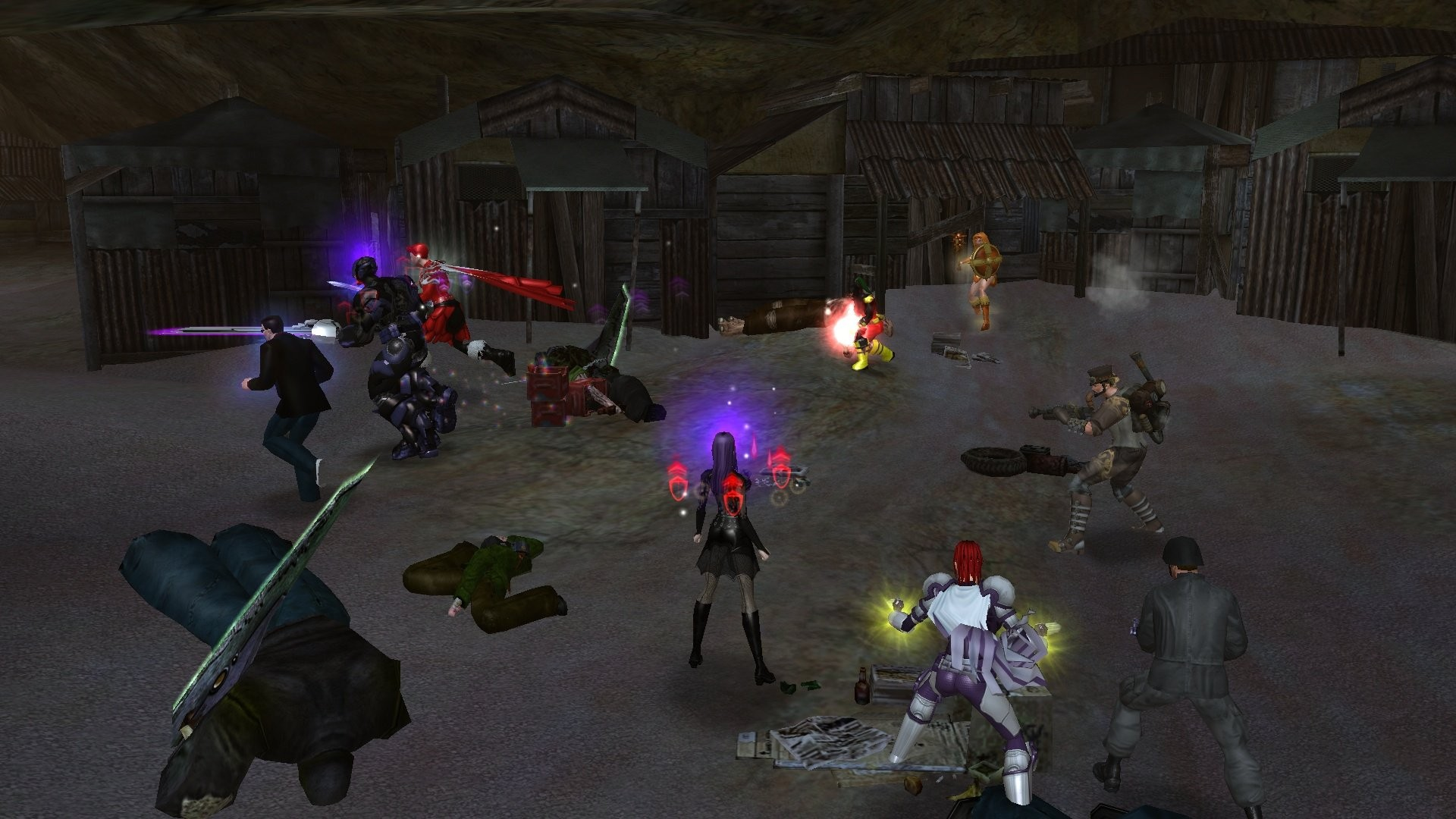 City of Heroes - Death From Below team - just showin goff character variety