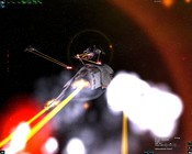 DarkSpace - A UGTO Battlecuiser under attack from multiple contacts