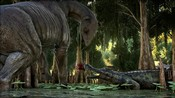 ARK: Survival Evolved - A Paracer and Sarco in the Swamp Biome in ARK: Survival Evolved
