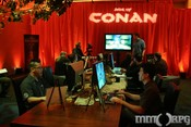 Conan press meeting