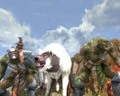 Lord of the Rings Online - My warg with his two little buddies.