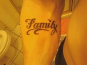 My son's second tat...just like Momma, he's got ink fever.