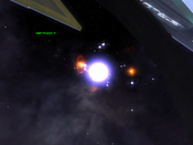 Vendetta Online - View from inside turret on Capital Ship in battle
