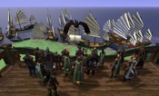 Vanguard: Saga of Heroes - Party at the guild hall.  Overlooking the armada we sailed in on.