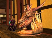 Vanguard: Saga of Heroes - Killed the dragon and mounted the head in our guildhall.