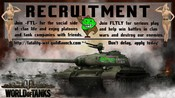 RECRUITMENT -FTL- FTLTY FATALITY FATAL1TY CLAN WALLPAPER WORLD OF TANKS