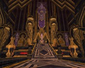 Lord of the Rings Online - A dwarf king's shroomy palace.