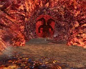 Lord of the Rings Online - Balrog running down a very ugly tunnel.