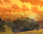 Lord of the Rings Online - Sunset near Weathertop.