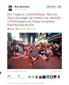 NASA Inspires People! Times Square sat and stood in rapt awe watching the Mars Curiosity Rover landing this morning!