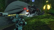 Firefall - the wreck in sargasso after yu pushed back the melding n defended a set of generators from several waves of chosen takes 5 mins for it to surface
