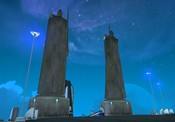 Anarchy Online - Better shot of the statues in the Plaza