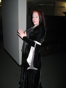 Senior QA Tester Darlene Girts as a Goth Princess.