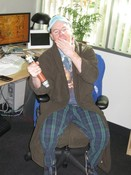 Senior Systems Designer Steve Williams as a Jedi Good Night. Get it?