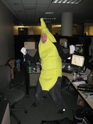 PC Technician Tyler Giffin as the Dancing Bannana.