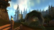 World of Warcraft - This is the log bridge in the Grizzly Hills of Northrend just south of Amberpine Lodge