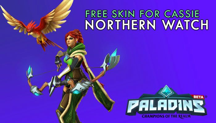 Free Cassie Northern Watch Skin Gift Keys! | Paladins: Champions of the Realm | MMORPG.com