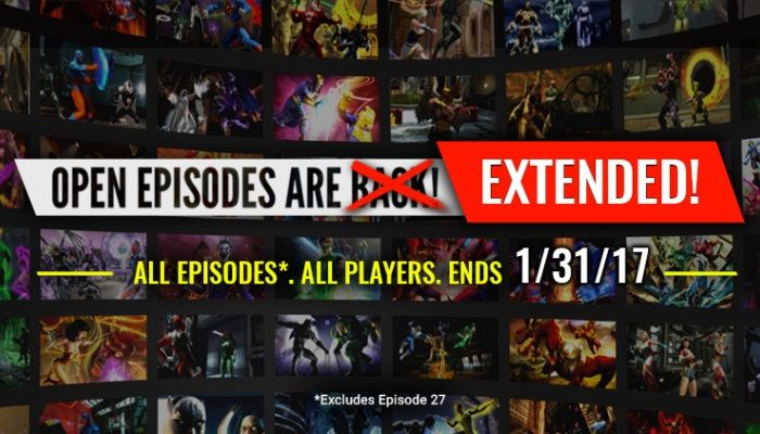 Free Open Episodes to Continue Through January 31st - DC Universe Online News