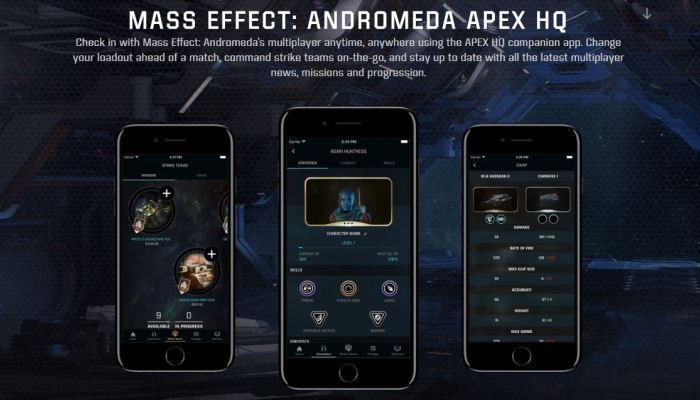 Apex HQ Allows You to Keep in Touch Via Phone App- Mass Effect Andromeda