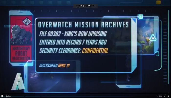 Overwatch Mission Archive