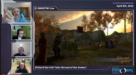 MMOFTW Live - Ep 16 - SotA with Richard Garriott