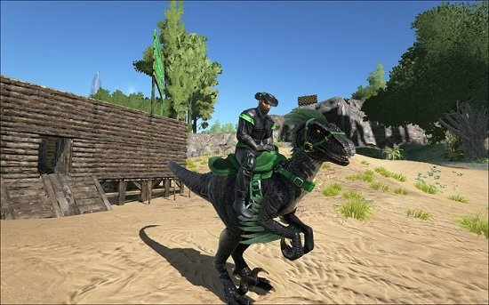 ARK: Survival Evolved Armor and Raptor