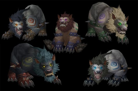 World Of Warcraft Worgen Wallpaper. Troll and Worgen Druid Forms