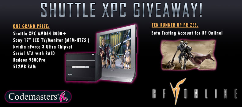 RF Online Shuttle XPC Giveaway