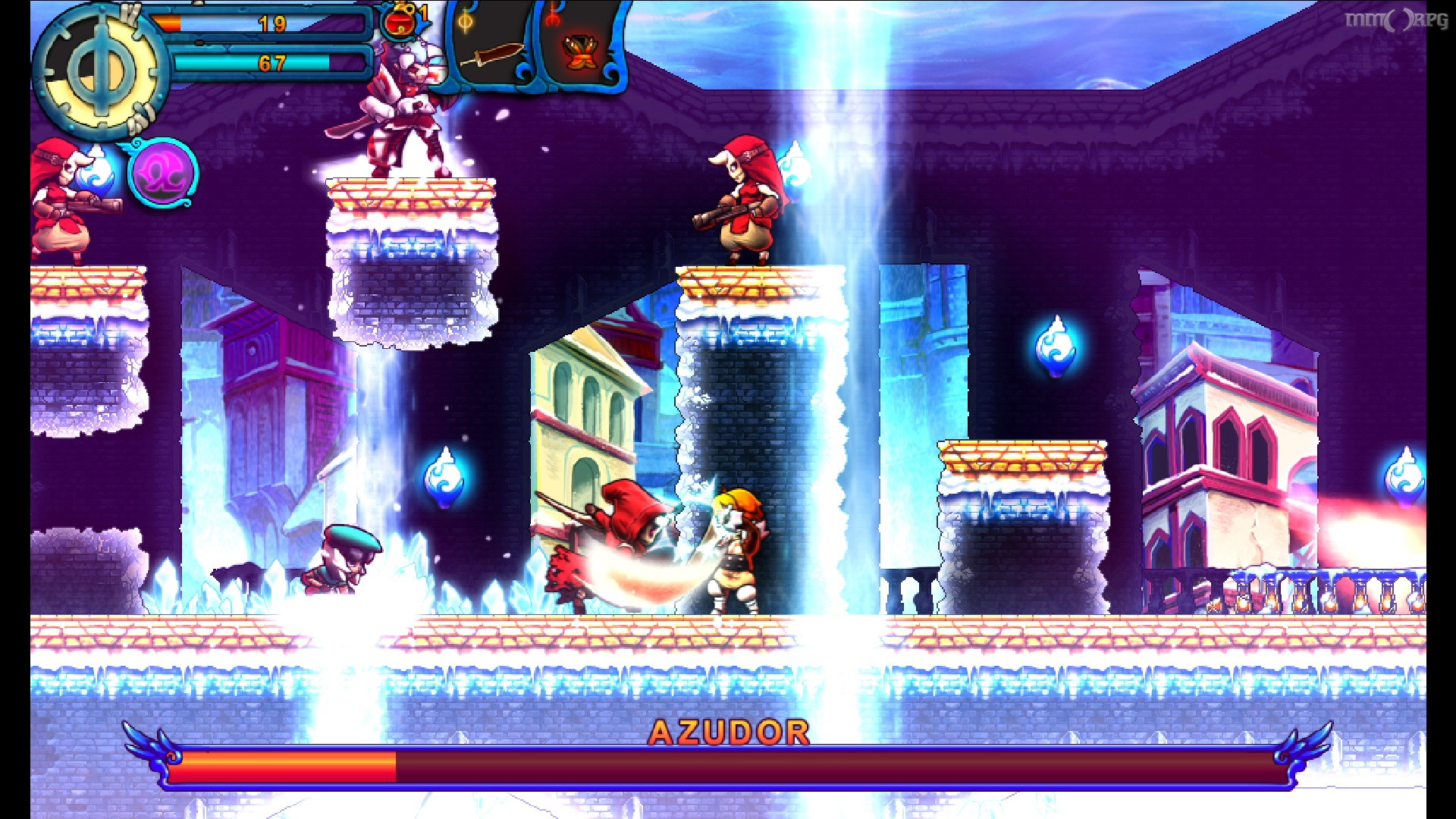 Valdis Story: Abyssal City borrows from multiple genres in its gameplay.