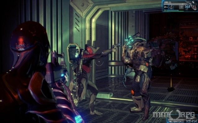 Sci-fi cooperative multiplayer game Warframe arms players with powerful armor (the Warframes of the title).