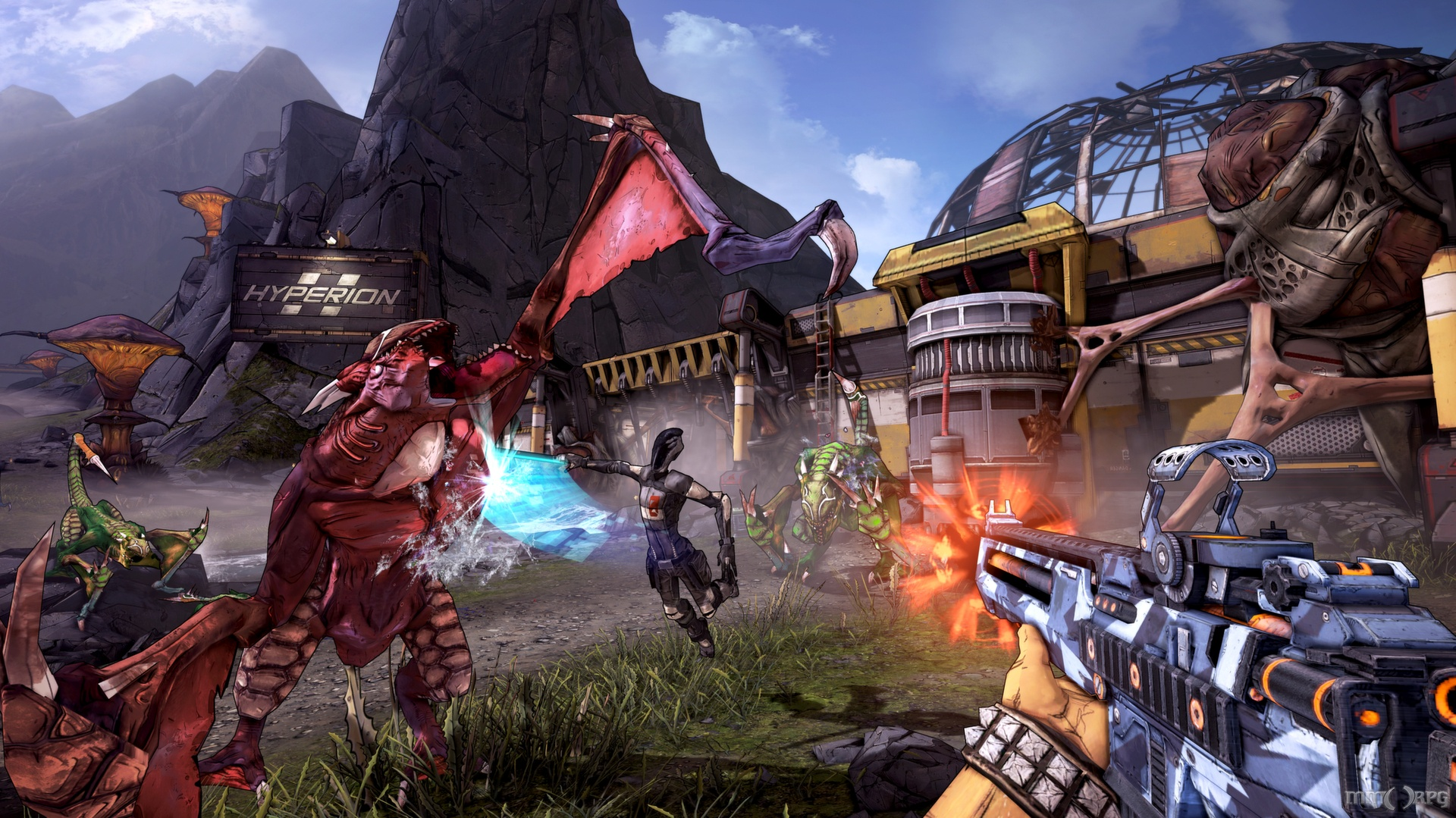 Borderlands 2 features a similarly twisted sense of humor and sharp writing alongside action-RPG gameplay.