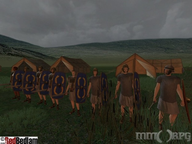 Camp of the 18th Legion. Note player-made tents.