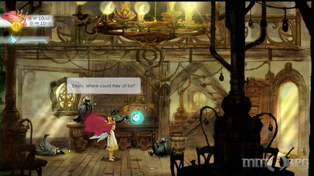 The fairytale-inspired Child of Light mixes sidescrolling platformer with RPG elements.