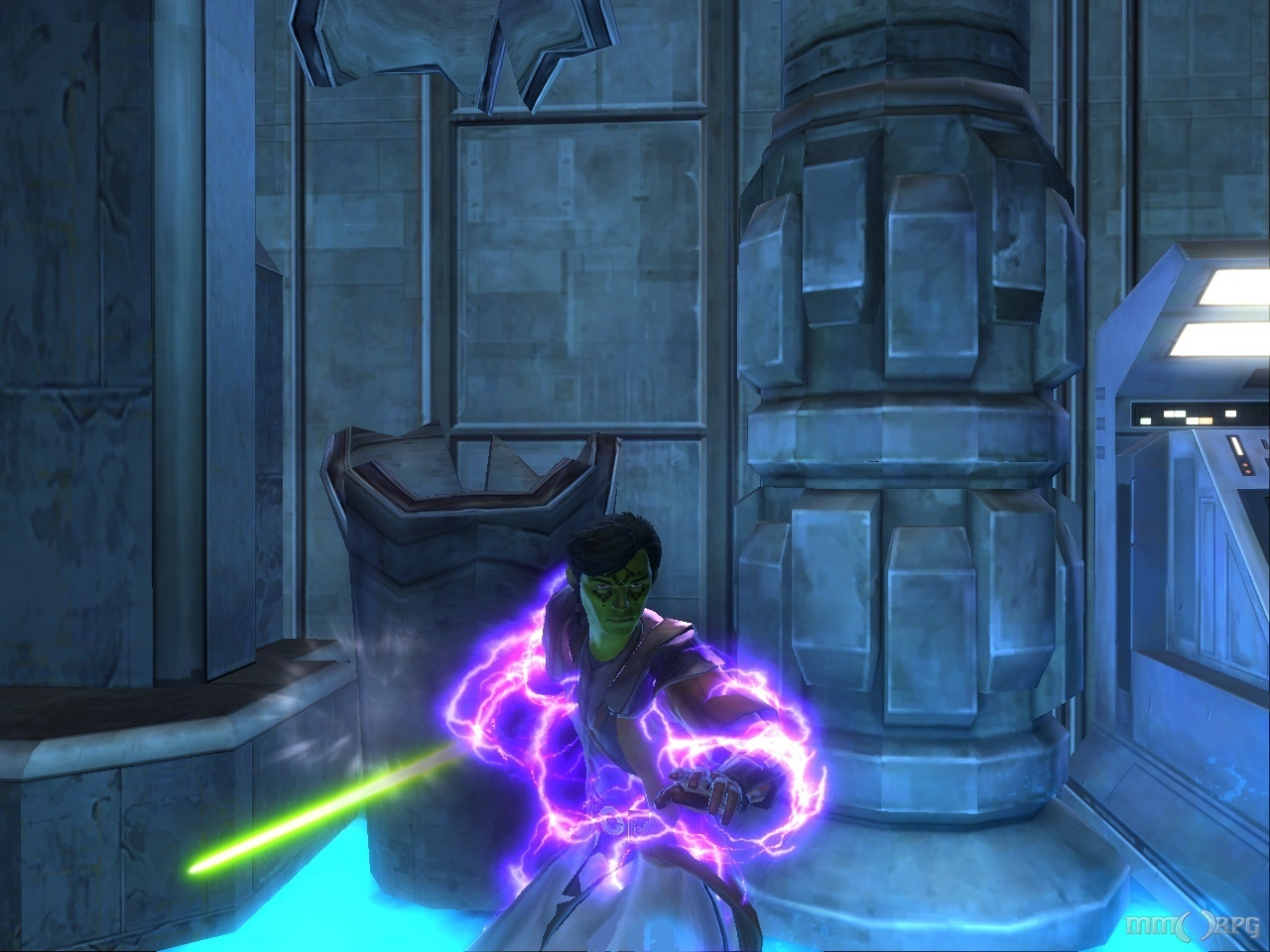 This goo has given me the powers of the Sith!