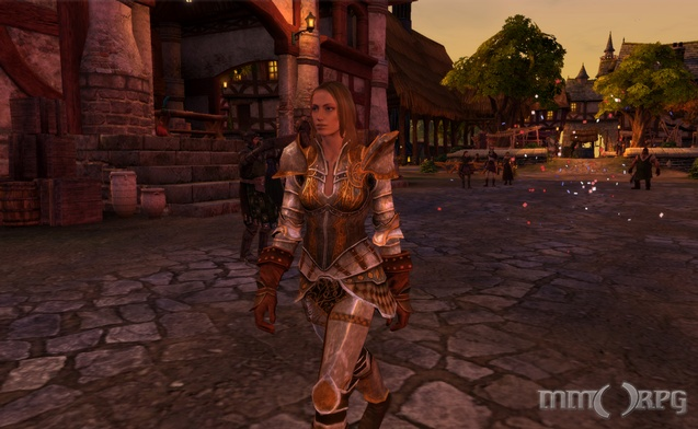 Armor-clad woman in Smith's Haven.