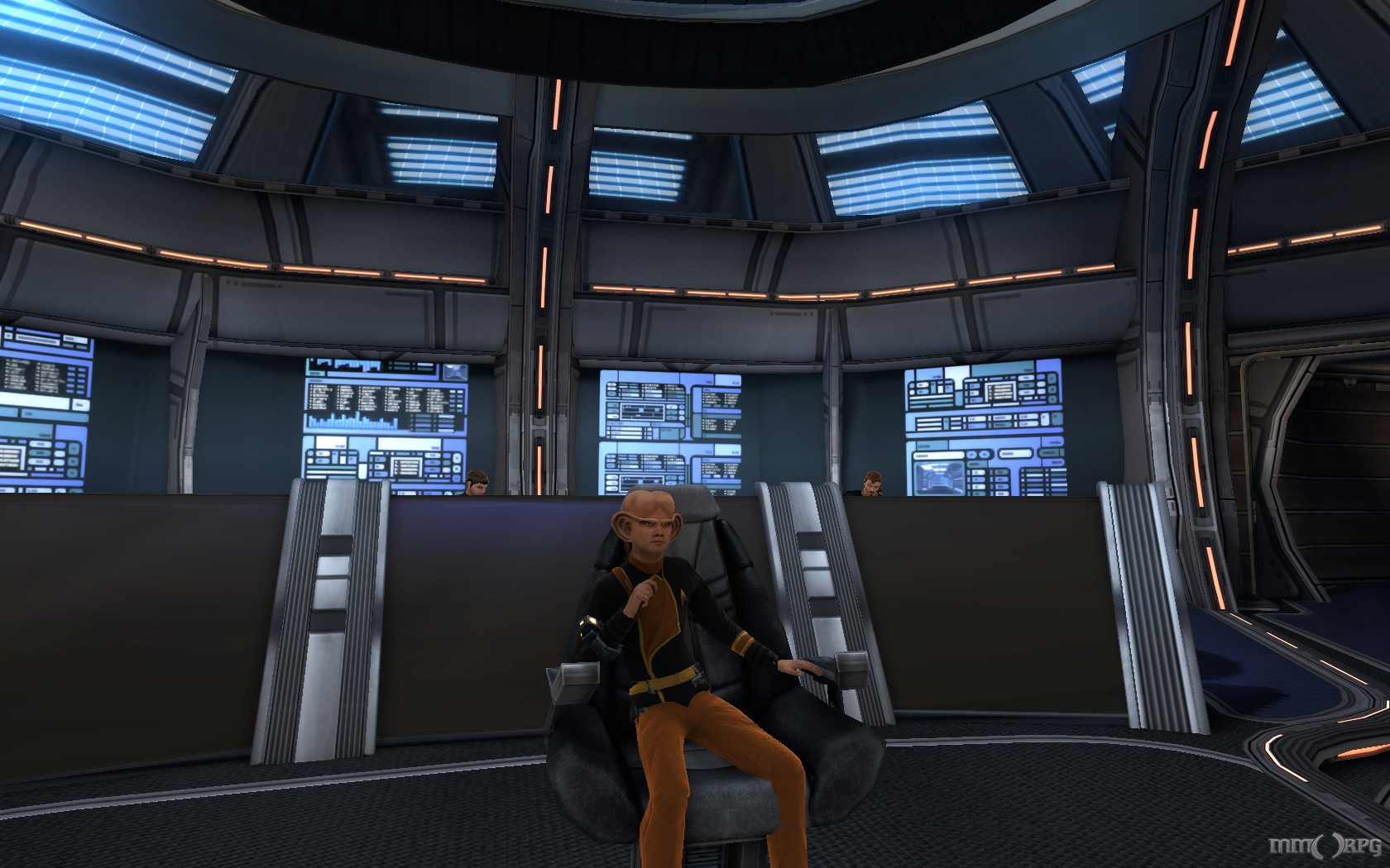 A young ferengi kidnaps his fleet admiral's chair when he's on an away mission.