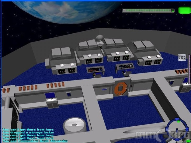 The systems of a ship can be dismantled and rebuilt. Allowing various upgrades. You can make your ship designed for speed, power, or anything else you wish. Shown here is the forward weapons and shields of a Manning Class Frigate, weapons upgraded.