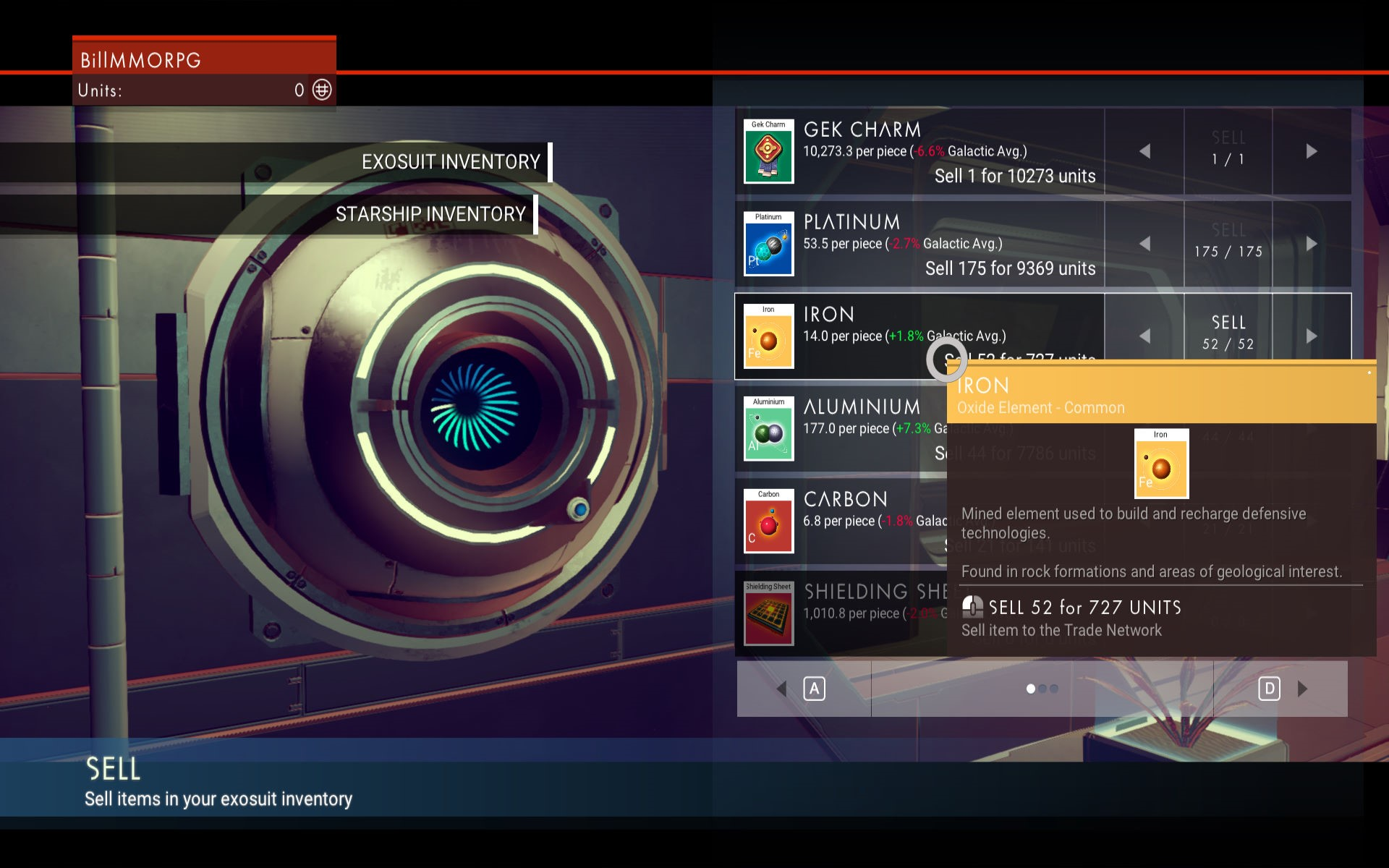 In No Man's Sky, trading on the market is an OK way to make money.