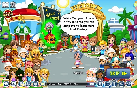 61e6ef8a64ac Here s how Fantage developers describe the game  Our users enjoy a beautiful  virtual world ...