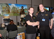 Taylor Daynes (Lead Designer) and Troy Hewitt (Community Manager).