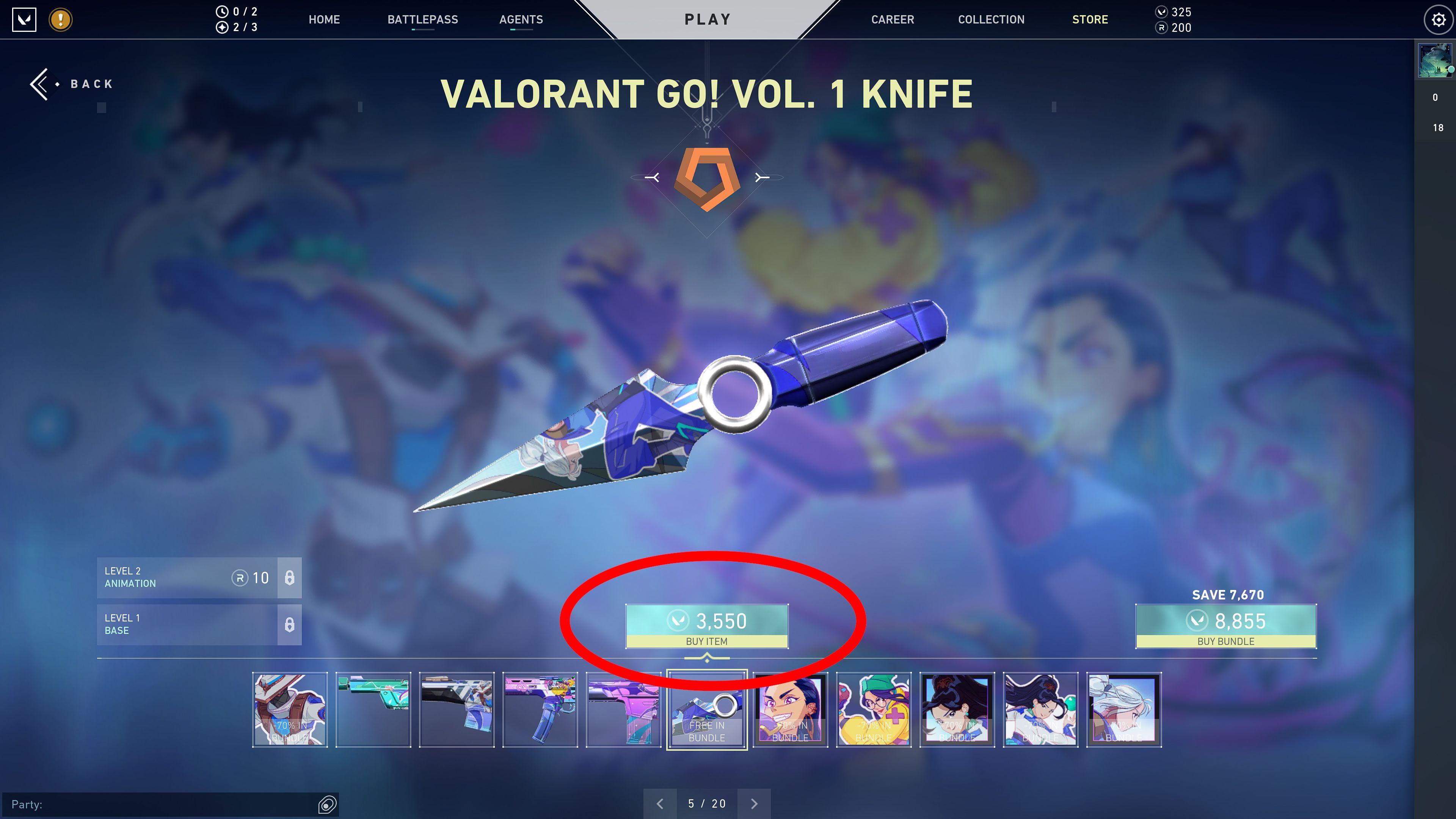 valorant knife skin