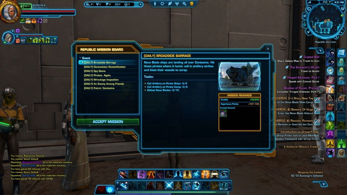 Pirate Excursion event details SWTOR