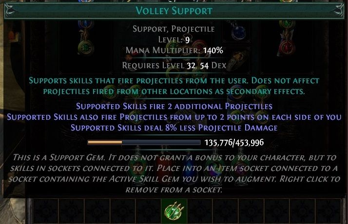 Path of Exile Support Skills