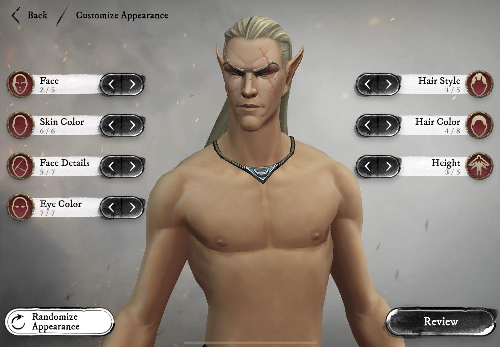 Warhammer Odyssey Character creator