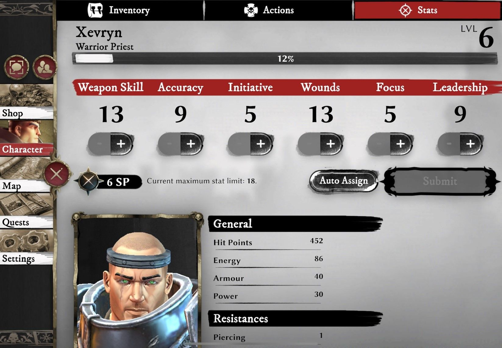 Warhammer Odyssey Character Sheet