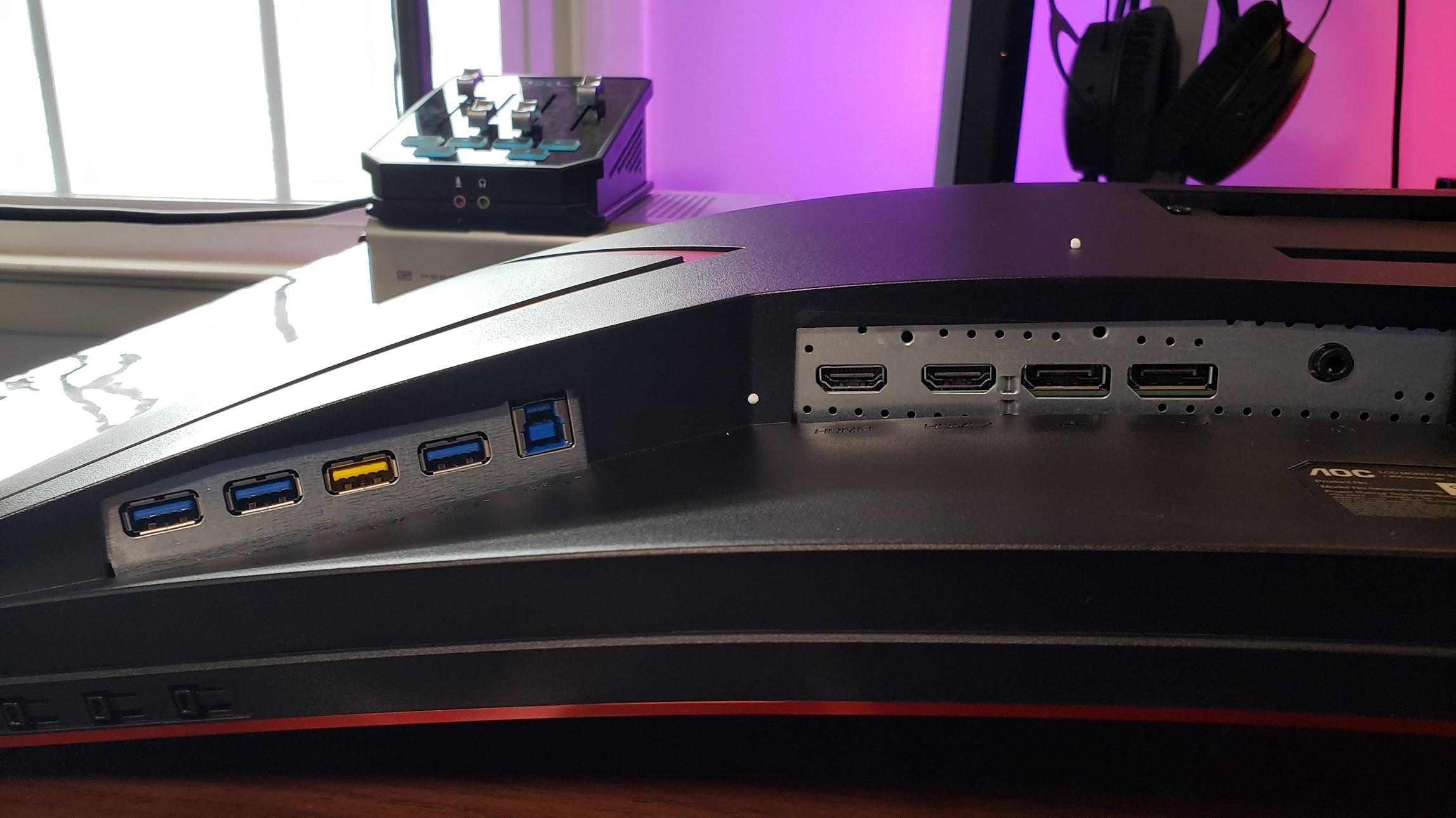 AOC CU34G2X: USB and IO
